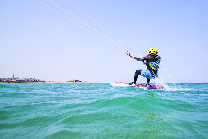 Départ en kitesurf